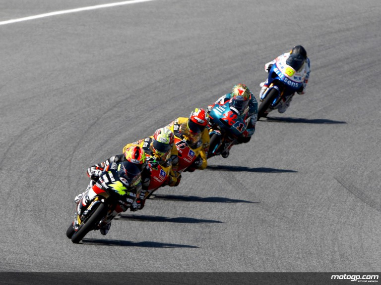 125cc Group in action in Catalunya