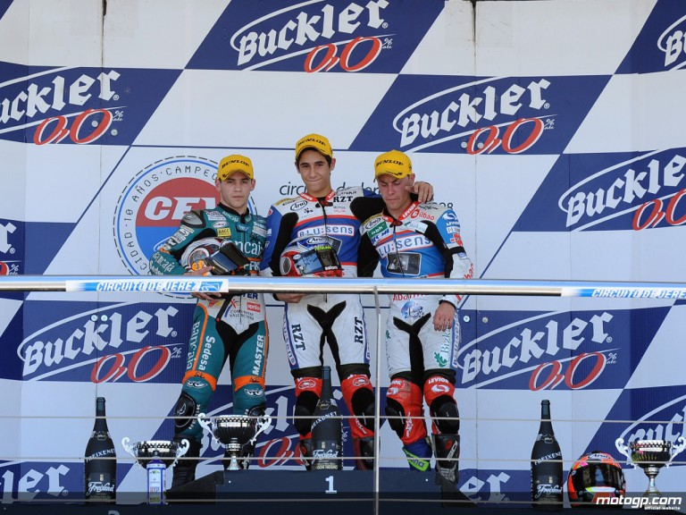 Luis Salom tops the podium in the third round of the CEV at Jerez