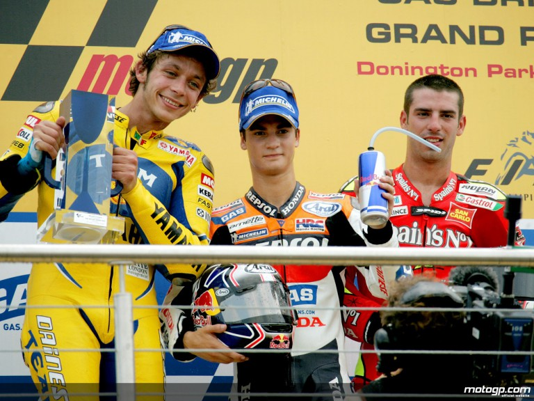 Dani Pedrosa takes second MotoGP win at Donington in 2006