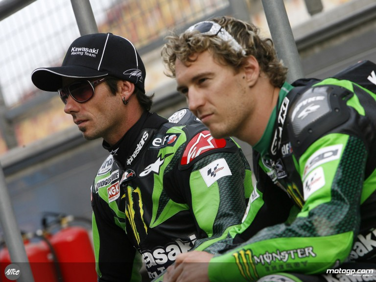 Kawasaki Racing riders John Hopkins and Anthony West