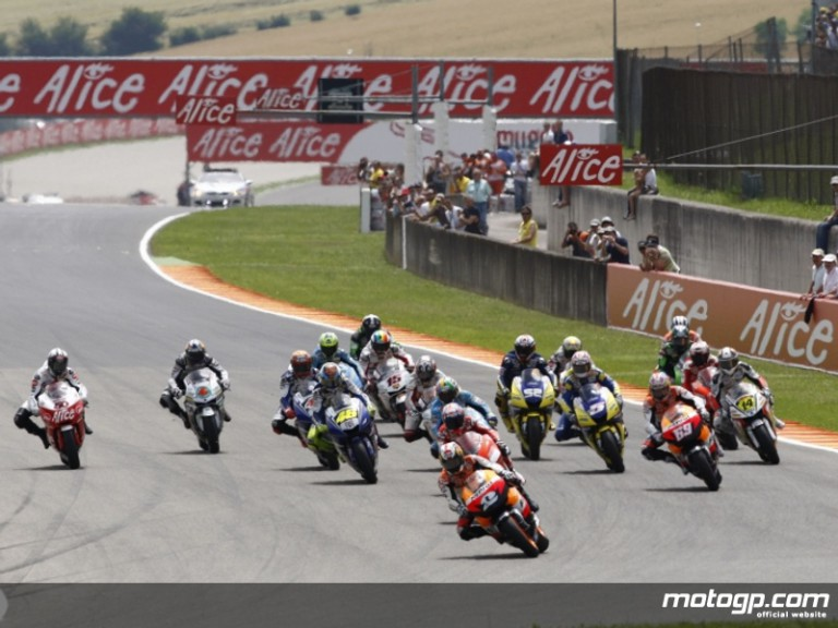 Repsol Honda´s Dani Pedrosa leading the MotoGP pack