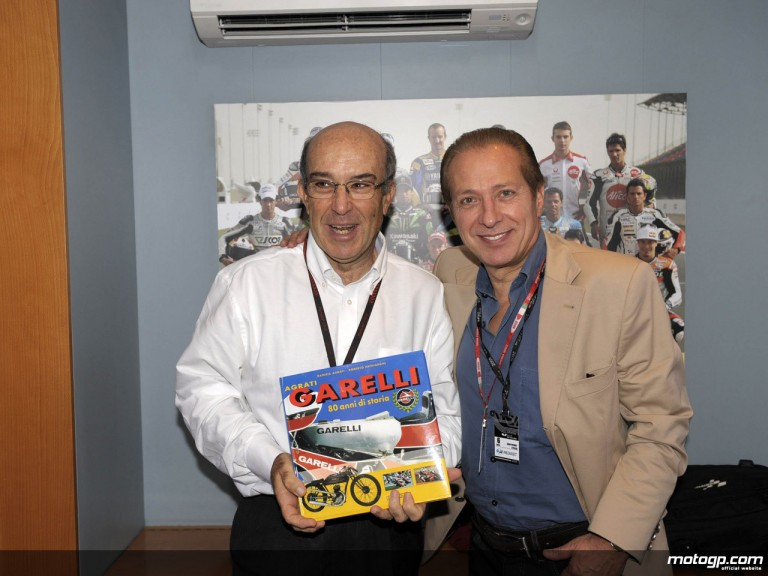 Dorna Sports´ CEO Carmelo Ezpeleta and Garelli´s Paolo Berlusconi