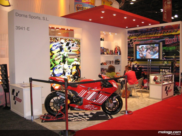 MotoGP on display at the 2008 International Licensing Expo in New York