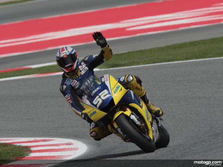 MotoGP rookie James Toseland on the Tech 3 Yamaha YZR-M1