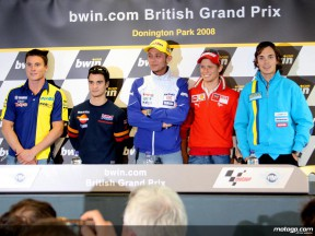 Donington MotoGP stars in the press conference ahead of the bwin.com British Grand Prix