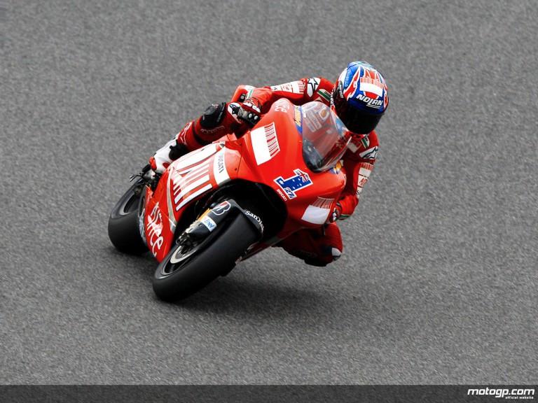 Casey Stoner in action (MotoGP)