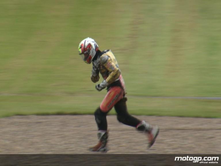 Pol Espargaro suffers collarbone injury in final free practice at Donington