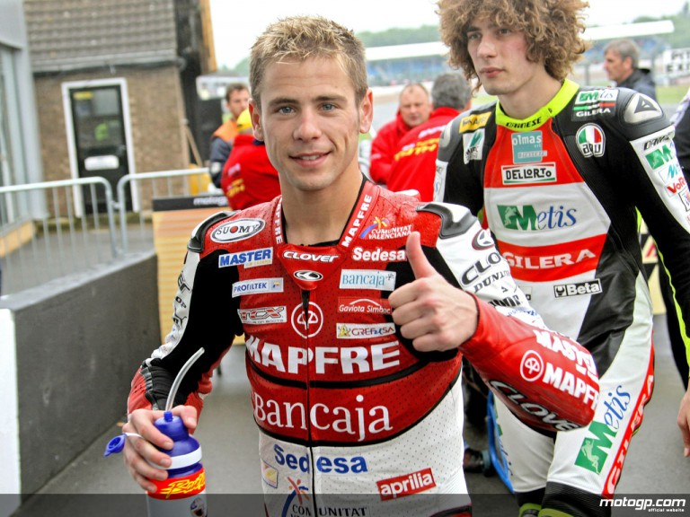 Alvaro Bautista after final qualifying practice in Donington