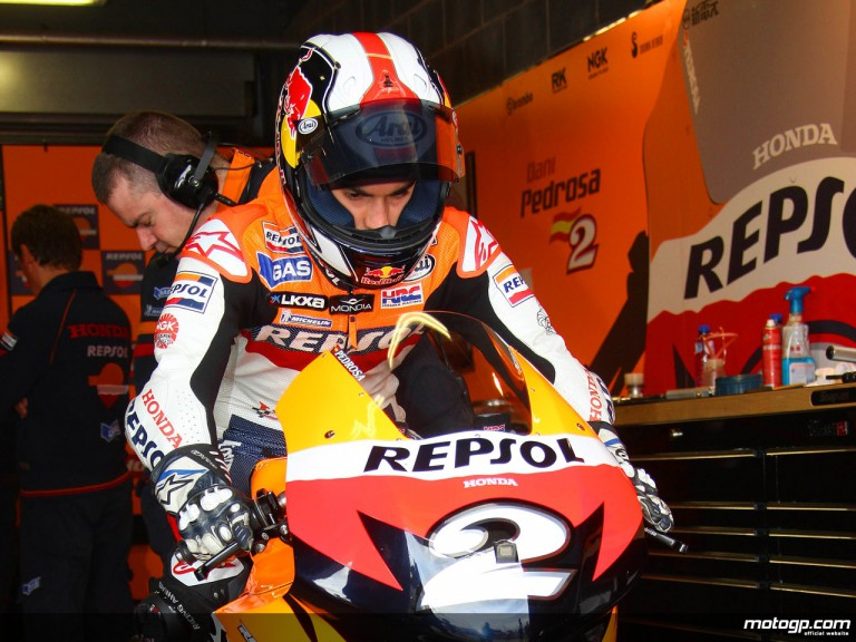 Dani Pedrosa set to go on track with his RC212V Honda