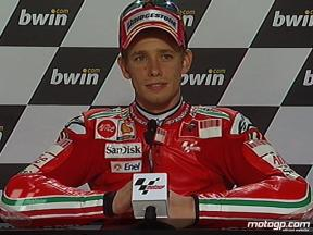 Casey Stoner interview after QP in Donington Park
