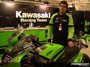 Kawasaki´s Juan Martinez on the Ninja ZX-RR wet set-up