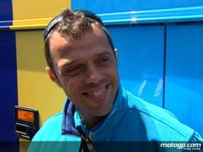Loris Capirossi on hand recovery and Rizla Suzuki prospects for Donington