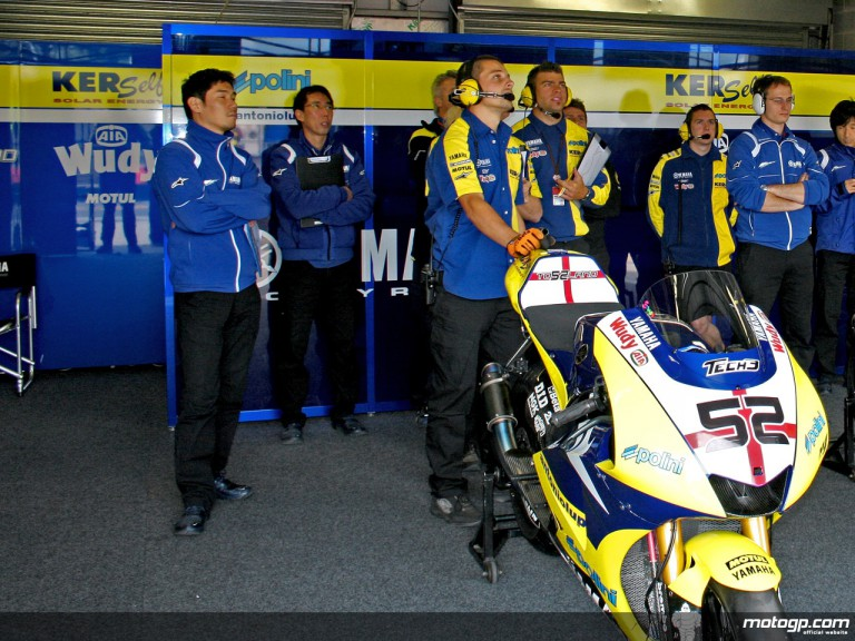 Tech 3 Yamaha team pit box