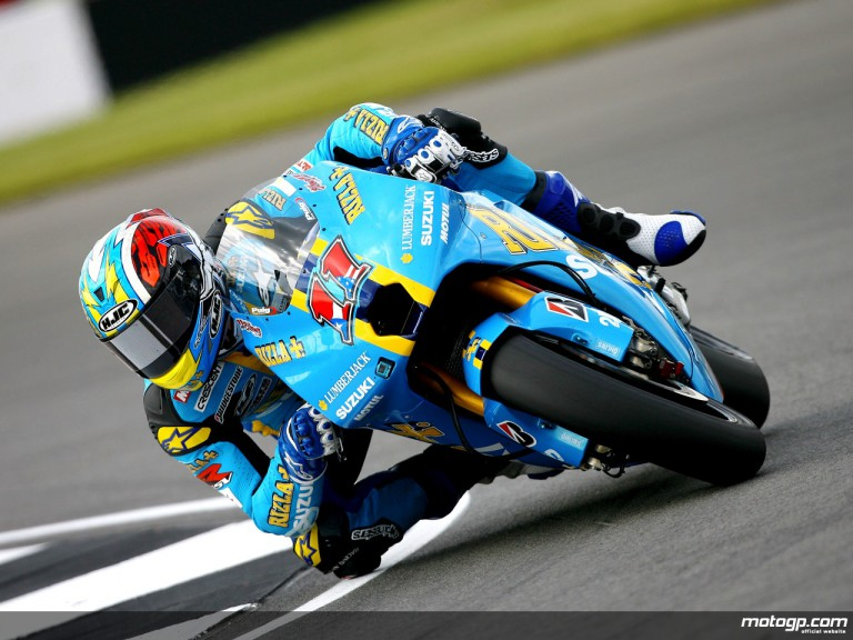 Ben Spies in action in Donington (MotoGP)