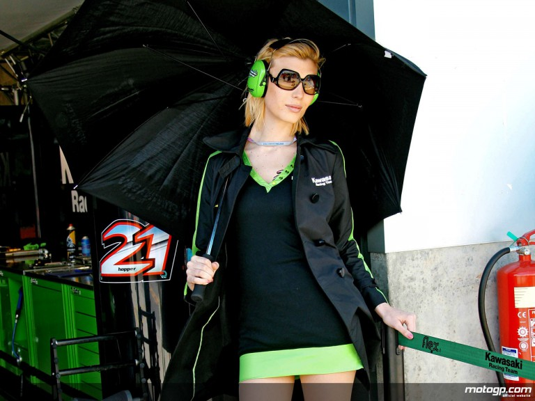 Kawasaki Racing Team Paddock Girl in Donington