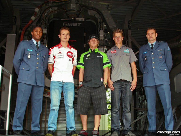 MotoGP riders visit the Soesterberg army base to try out the Desdemona simulator