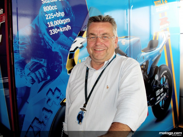 Gerry Biasi, catering and hospitality manager for Rizla Suzuki