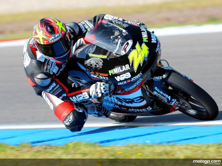 Simone Corsi in action in Assen (125cc)