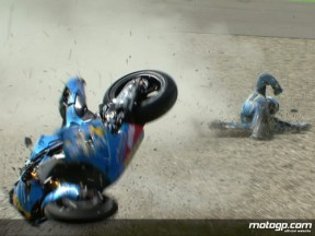 Capirossi crashes in second free practice session at Assen