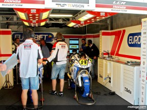 LCR Honda staff at work in garage