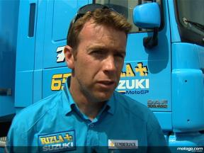 Rizla Suzuki manager Paul Denning on Loris Capirossi´s condition after FP2 crash