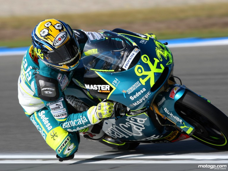 Sergio Gadea in action in Assen (125cc)