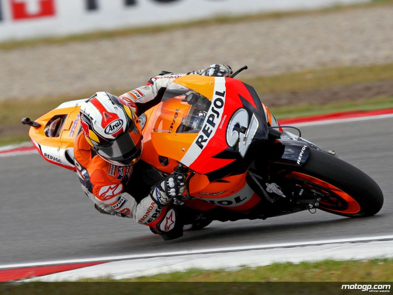 Dani Pedrosa in action in Assen (MotoGP)