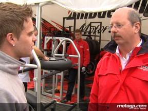125cc rider Joey Litjens and Bridgestone´s Thomas Scholz