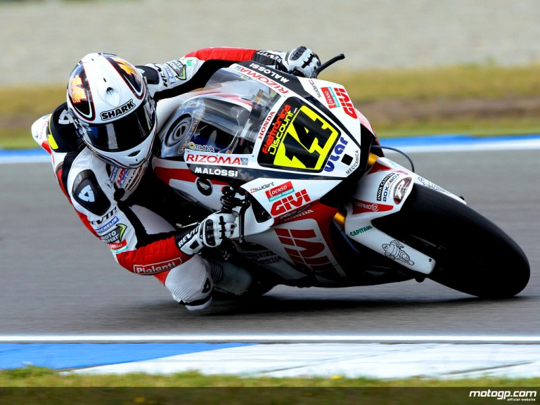 Randy de Puniet in action in Assen (MotoGP)