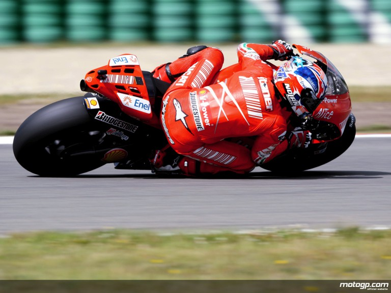Casey Stoner in action in Assen (MotoGP)