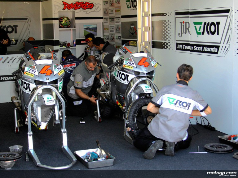 JiR Team Scot staff at work in garage