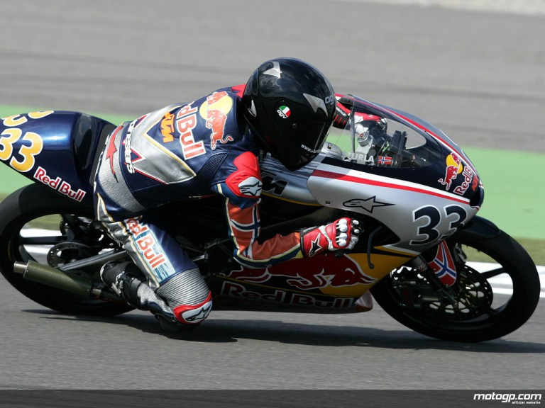 Sturla Fagerhaug on his way to pole position at Assen