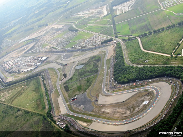 Aerial shot of the Assen circuit