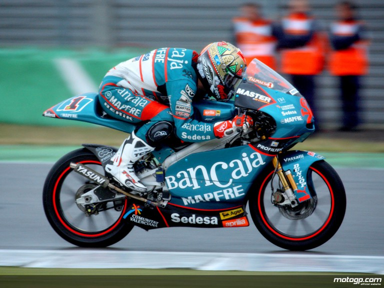 Gabor Talmacsi in action in Assen (125cc)