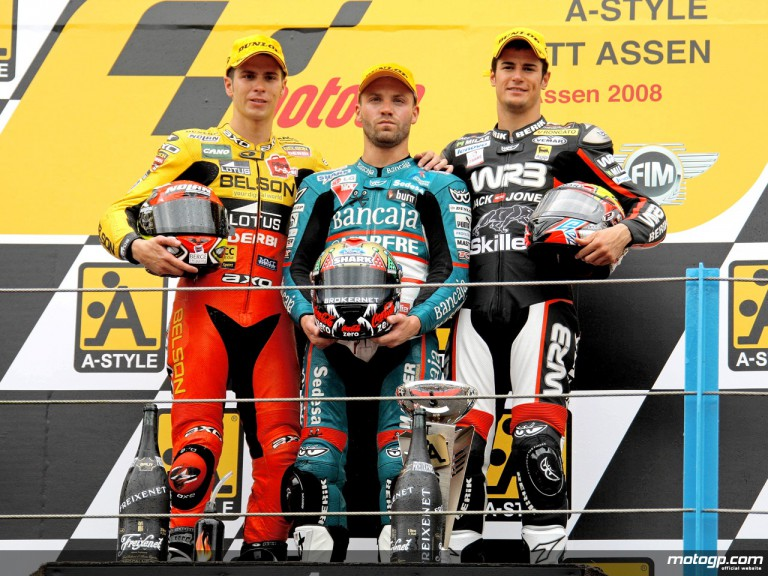 Talmacsi, Olive and Corsi on the podium at Assen (125cc)