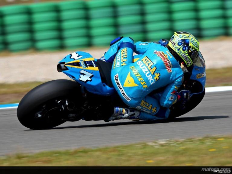 Crhis Vermeulen in action in Assen (MotoGP)