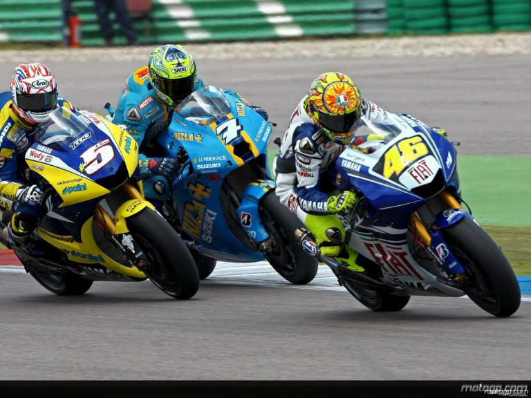 MotoGP group in action in Assen