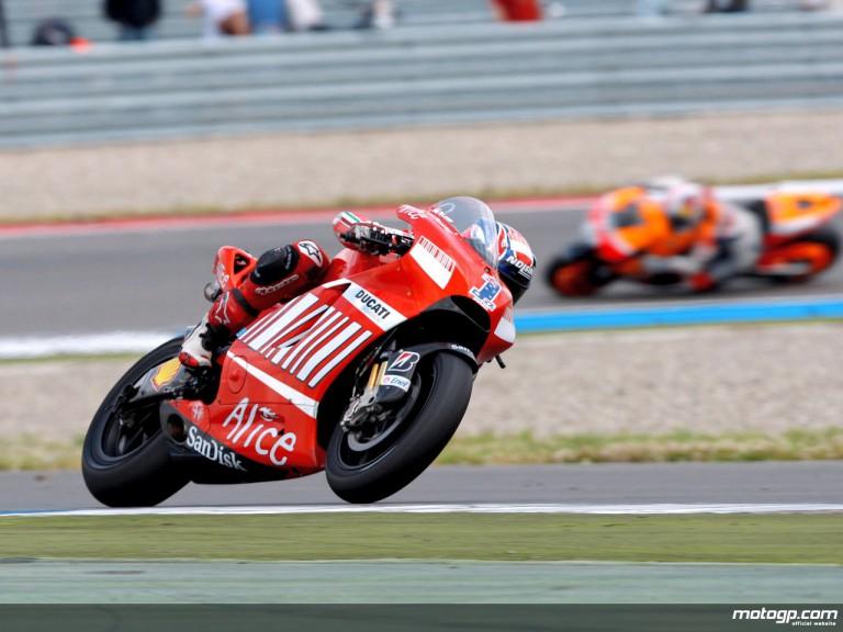 Casey Stoner in action in Assen (MotoGP)