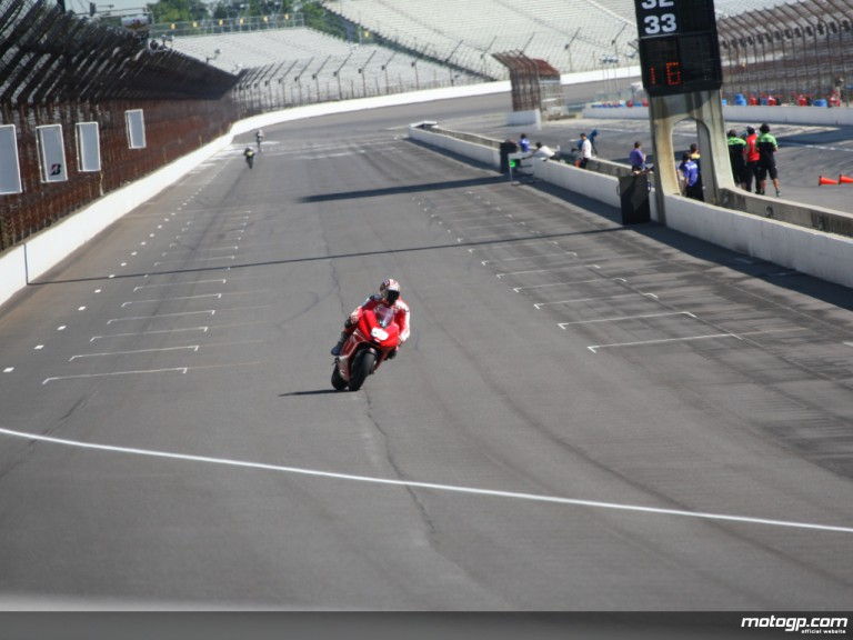 Niccolo Canepa at the MotoGP Indy Test on July 1st