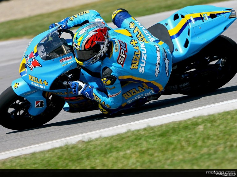 Ben Spies on a Suzuki