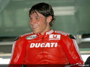 Ducati test rider Niccolo Canepa at Indianapolis