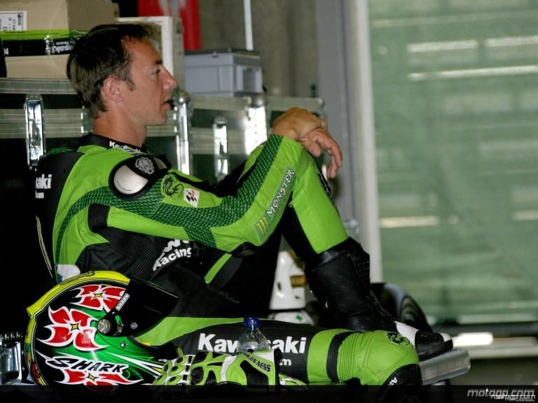 Kawasaki test rider Olivier Jacque