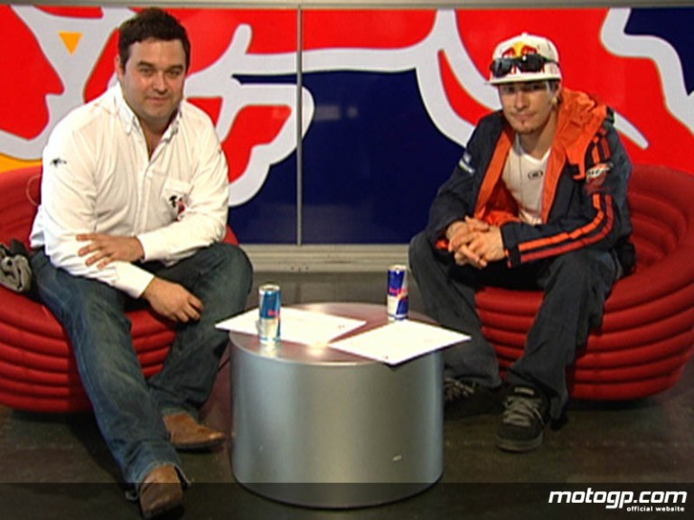 After the Flag co-host Gavin Emmett with former MotoGP World Champion Nicky Hayden
