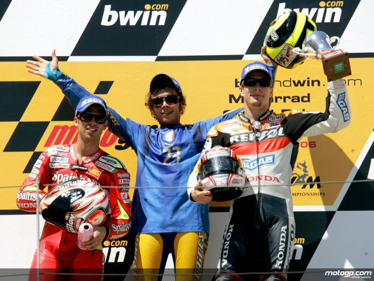 2006 MotoGP podium at Sachsenring