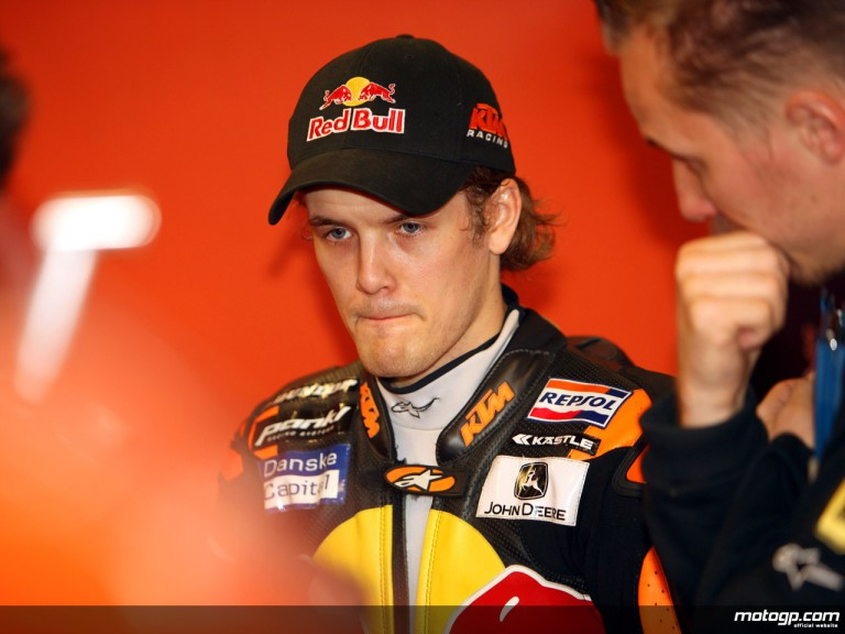 Mika Kallio in the Red Bull KTM garage (250cc)