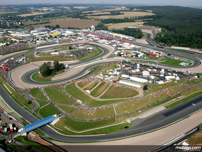Aeerial shot of the Sachsenring Circuit