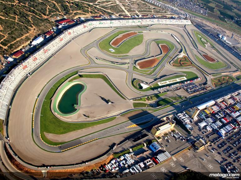 Aerial shot of the Comunitat Valenciana Circuit