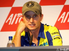 Colin Edwards at the German GP press-conference