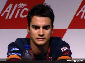 Dani Pedrosa talks in MotoGP press conference