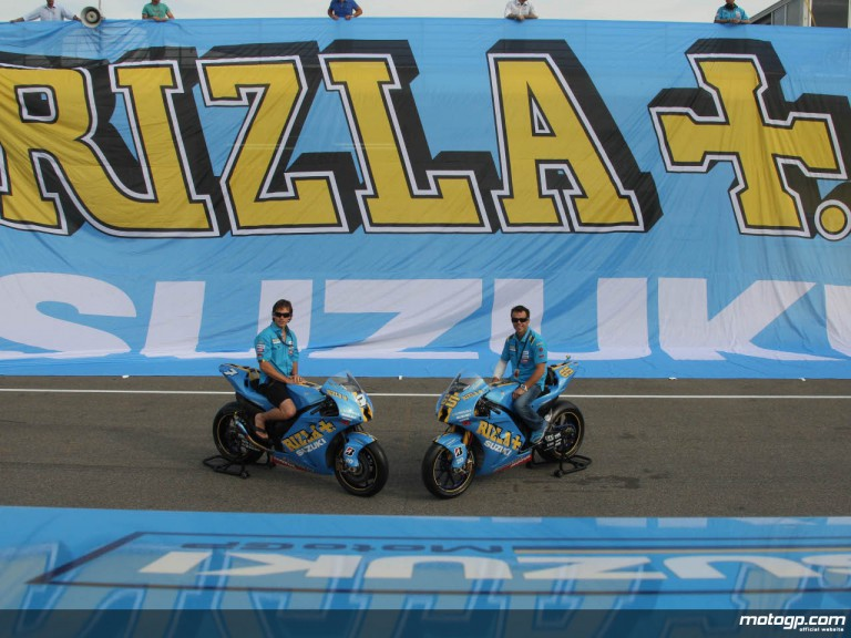 Rizla Suzuki riders Chris Vermeulen and Loris Capirossi